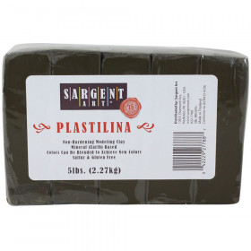 Plastilina Non-Hardening Modeling Clay, 5 lbs., Brown