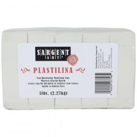 Plastilina Non-Hardening Modeling Clay, 5 lbs., White