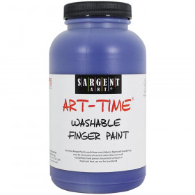 16Oz Washable Finger Paint Blue