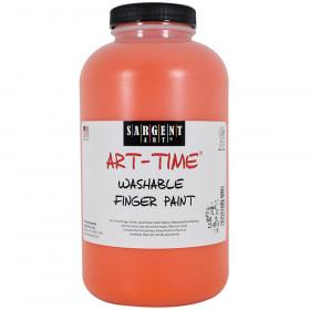 32Oz Washable Finger Paint Orange