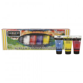 Acrylic Paint Tubes, 75 mL, Assorted Colors, 10 Count
