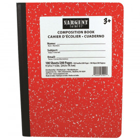 Red Composition Book 100 Sheets