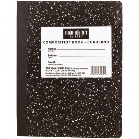 "Composition Hard Cover Notebook, 7.5"" x 9.75"", 100 Sheets"