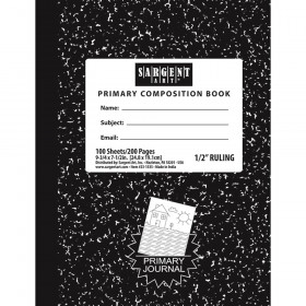"""Primary Wide Ruled Composition Hard Cover Notebook, 7.5"""" x 9.75"""", 100 Sheets"""