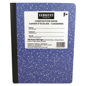 "Composition Book, Wide Ruled, 7.5"" x 9.75"", 100 Sheets, Blue"