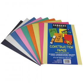 Construction Paper 50 Sheet Asst Color Pack