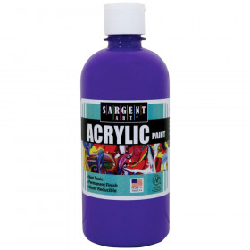 Acrylic Paint, Squeeze Bottle, 16 oz., Spectral Violet