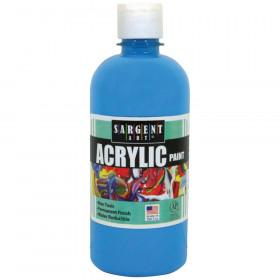 Acrylic Paint, Squeeze Bottle, 16 oz., Turquoise