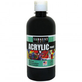 Acrylic Paint, Squeeze Bottle, 16 oz., Ivory Black