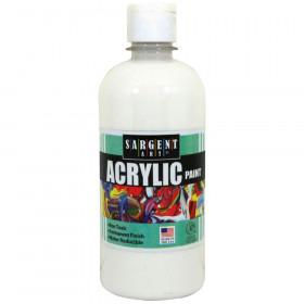 Acrylic Paint, Squeeze Bottle, 16 oz., White