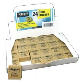 Gum Erasers, Pack of 24