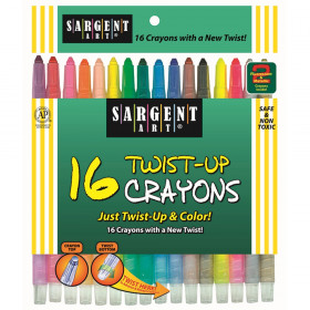 Twist-Up Crayons, 16 Colors