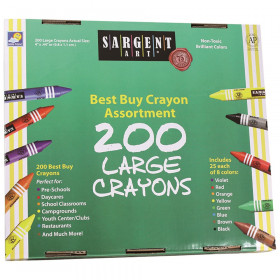 Large Size (Jumbo) Crayons Best-Buy Assortment, 8 Colors, 200 Count