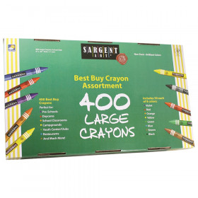 Best-Buy Crayon Assorted, Large Size, 400 Count