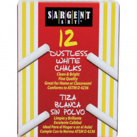 Sargent School Gr Dustless Chalk White