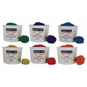 Art-Time Assorted Dough, 3lbs of Tub, Pack of 6