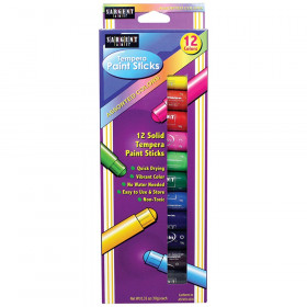 Tempera Paint Stick, Assorted Colors, Pack of 12