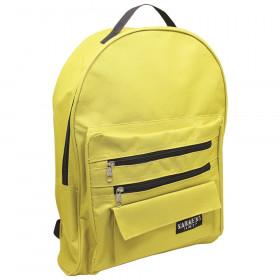 Economy backpack Mustard/black zippers, 2 zipper pockets
