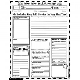 Instant Personal Poster Sets: Extra, Extra, Read All About Me!, Set of 30