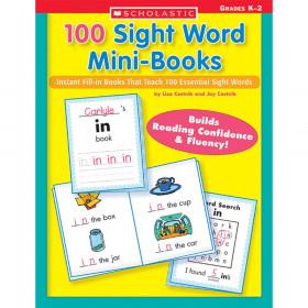 100 Sight Word Mini-Books Workbook, Grades K-2