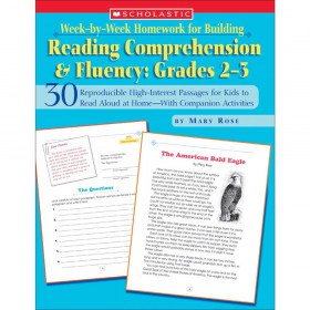Week By Week Homework for Building Reading Comprehension and Fluency, Grades 2-3