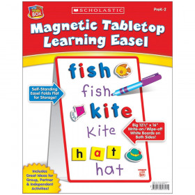 Scholastic Little Red Tool Box Magnetic Tabletop Learning Easel