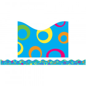 Funky Rings Blue Scalloped Trimmer