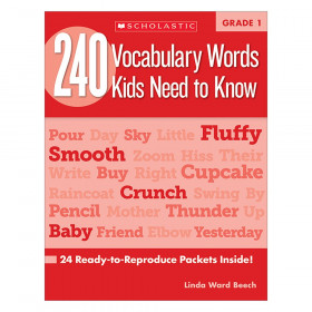 240 Vocabulary Words..Kids Need to Read Book, Grade 1