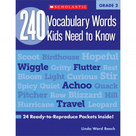 240 Vocabulary Words..Kids Need to Read Book, Grade 2
