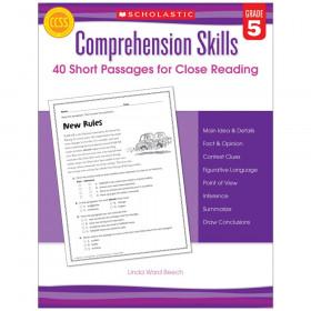 Comprehension Skills: Short Passages for Close Reading Book, Grade 5
