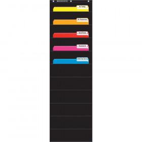File Organizer Black Pocket Chart