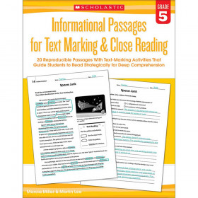 Informational Passages for Text Marking & Close Reading: Grade 5