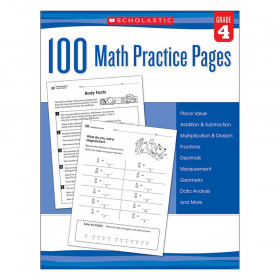 Scholastic 100 Math Practice Page, Grade 4