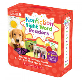 Nonfiction Sight Word Readers Set, Level A, Set of 25 Books