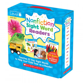 Nonfiction Sight Word Readers Set, Level B, Set of 25 Books