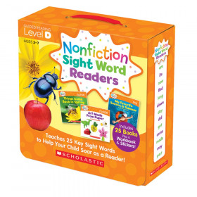 Nonfiction Sight Word Readers Set, Level D, Set of 25 Books