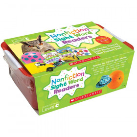 Nonfiction Sight Word Readers Classroom Tub, Level C, 6 Copies of 25 Titles