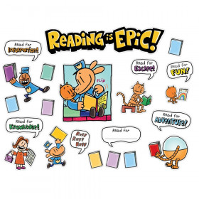Dog Man Reading Is Epic! Bulletin Board Set
