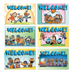 Dog Man Welcome Postcards, Pack of 36