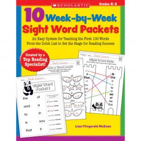 Scholastic 10 Week-by-Week Sight Word Packets Book