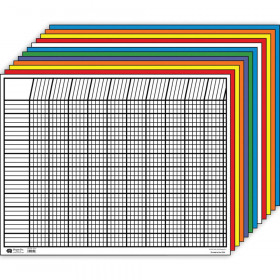 "Large Horizontal Incentive Chart Set, 28"" x 22"", Assorted Color, Pack of 12"