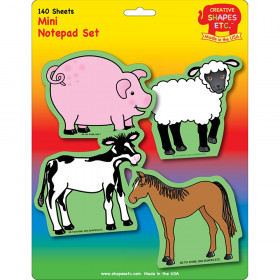 Mini Notepad Set, Farm Animals