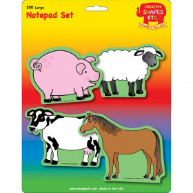 Farm Animals Set Large Notepad
