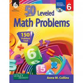 50 Leveled Math Problems Book with CD, Level 6