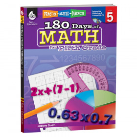 Shell Education 180 Days of Math Book, Grade 5