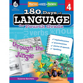 Shell Education 180 Days of Language Book, Grade 4