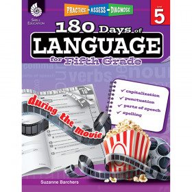 Shell Education 180 Days of Language Book, Grade 5