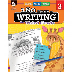 Shell Education 180 Days of Writing Book, Grade 3