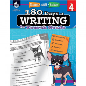 Shell Education 180 Days of Writing Book, Grade 4