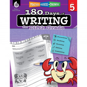 Shell Education 180 Days of Writing Book, Grade 5